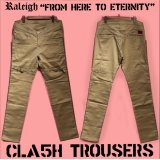 "RALEIGH ""FROM HERE TO ETERNITY"" CLA5H CITY TROUSERS[SAND BEIGE (BLACK PIPING)]"