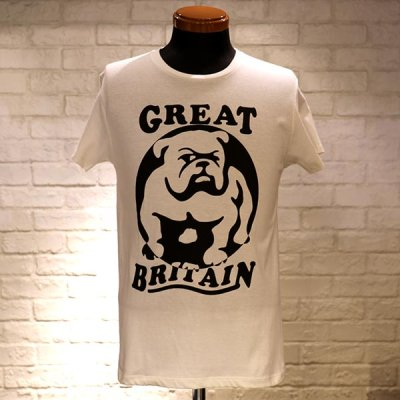 画像1: 「Original John」BULLDOG T-SH[OFF WHITE/BK PRINT]
