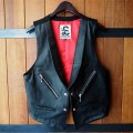"""RALEIGH """"COUNT IN THREE """"3つ数えろ"""" BULLET LEATHER VEST"""