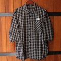 BOUNTYHUNTER Check 3/4 Shirts[BK Big Check]