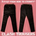 """RALEIGH """"FROM HERE TO ETERNITY"""" CLA5H CITY TROUSERS[BLACK (WHITE PIPING)]"""