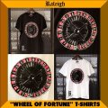 """RALEIGH """"WHEEL OF FORTUNE"""" T-SHIRTS"""