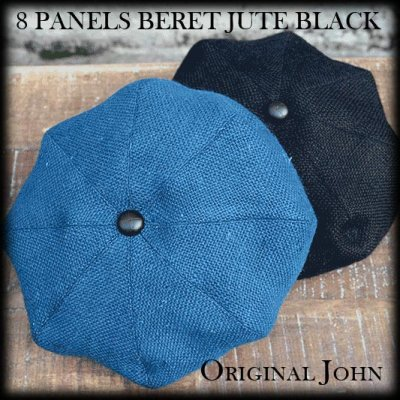 画像1: 「Original John」8 PANELS BERET JUTE BLACK