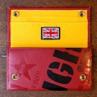 "他の写真2: 【再入荷】RALEIGH ""SMUGGLER"" LEATHER WALLET with ""HIDEOUT"" WALLET CHAIN[OX BLOOD (yellow inside, Skinhead Moonstomp) ]"