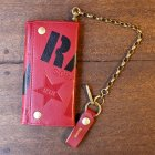 "他の写真1: 【再入荷】RALEIGH ""SMUGGLER"" LEATHER WALLET with ""HIDEOUT"" WALLET CHAIN[OX BLOOD (yellow inside, Skinhead Moonstomp) ]"