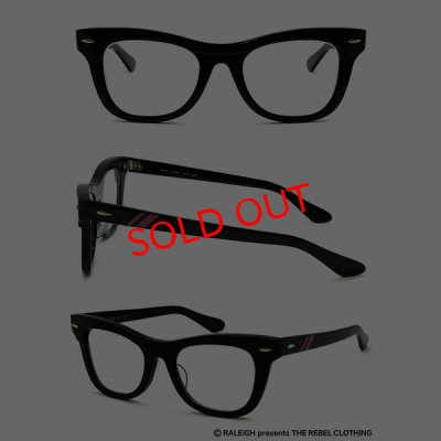 "画像1: ""暴走のロックンロール"" EYE GLASSES starring : B-A-B-Y (BLACK/CLEAR)"