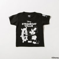 【Kid's】BxH / STEAMBOAT WILLIE Kid'sTee [BK/WH]