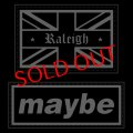"""【RALEIGH】Red B.C. CAPITAL RADIO """"We Definitely Love OASIS . . . Maybe . . ."""" VELCRO MORALE PATCH"""