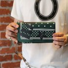 "他の写真3: 【ARTOMIC別注限定カラー】RALEIGH Design ""POLKA DOT"" BANDANA WALLET with ""HANGING DOWN"" LEATHER STRAP(GREEN/WH)"