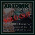 "【ARTOMIC別注限定カラー】RALEIGH Design ""POLKA DOT"" BANDANA WALLET with ""HANGING DOWN"" LEATHER STRAP(GREEN/WH)"