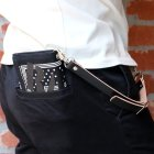 "他の写真3: RALEIGH Design ""POLKA DOT"" BANDANA WALLET with ""HANGING DOWN"" LEATHER STRAP(BLK/WH)"
