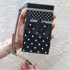 "他の写真2: RALEIGH Design ""POLKA DOT"" BANDANA WALLET with ""HANGING DOWN"" LEATHER STRAP(BLK/WH)"