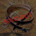 """RALEIGH """"HANGING DOWN"""" LEATHER NARROW BELT (STUDENT MODEL)[BLACK]"""