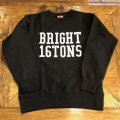 """[No.8040] RALEIGH """"BRIGHT 16TONS"""" REVERSE WEAVE C/N SWEAT[BK]"""