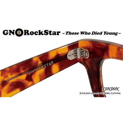 "画像2: RALEIGH starring : GN8 ROCKSTAR ""THOSE WHO DIED YOUNG"" EYE GLASSES[AMBER/SMOKE]"