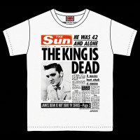 """RALEIGH Obituary in a Newspaper """"THE KING IS DEAD"""" T-SHIRTS"""